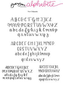 Alphabete_Faux_Calligraphy 2